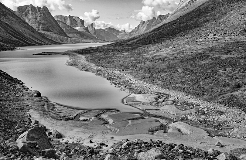 View south to Summit Lake, Baffin Island -