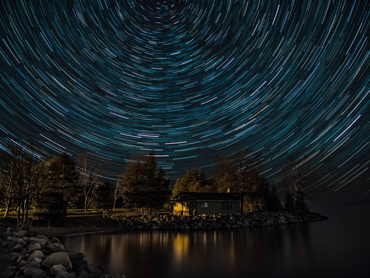 Star Trails  - Winner - Something Different Category - Brian Gibson 2016 Fall Challenge  This is a 35 minute live composite exposure built in camera using 30 second sub-exposures.  I took this from a pier in Lora Bay Park looking north to get circular trails.