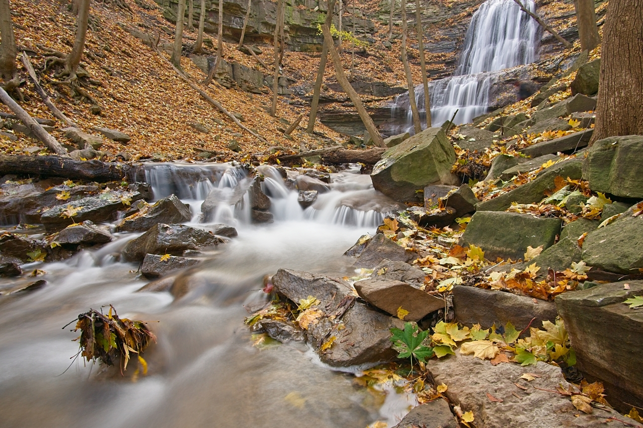 Long Exposure Waterfalls and Fall Colours 2019-11-11 -
